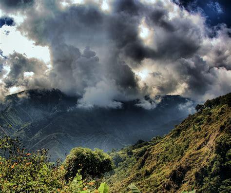 วอลเปเปอร์ : ต้นไม้, ท้องฟ้า, ภูเขา, เมฆ, skyscape, แนวนอน ...