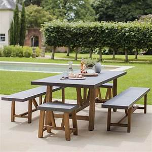 Garden, Trading, Chilson, Table, And, Bench, Set