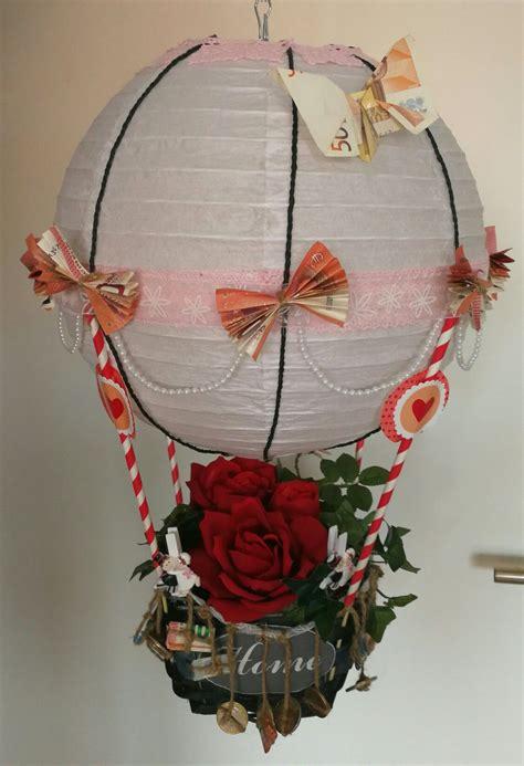 diy heissluftballon geldgeschenk von kollegen fuer