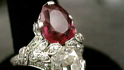 art deco diamond  ruby jewelry ca  antiques