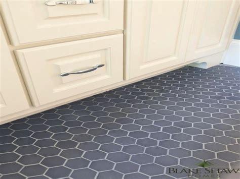 Grey bathrooms, gray hexagon tile floor red hexagon tile