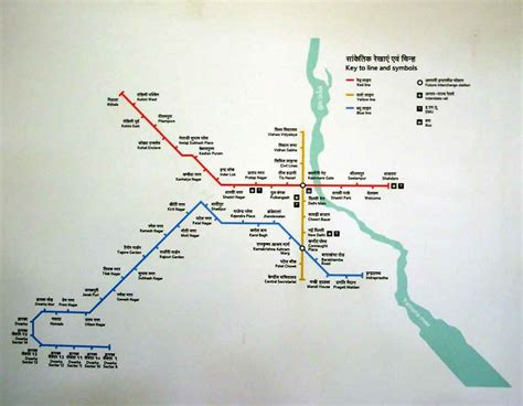 route map of delhi metro station