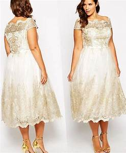 plus size wedding dress tea length pluslookeu collection With tea length wedding dresses plus size