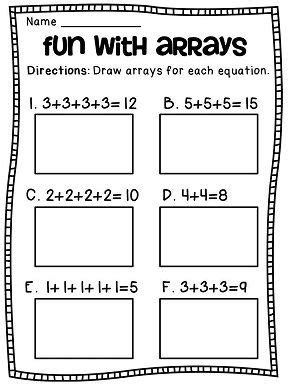 repeated addition addition worksheets and math centers on