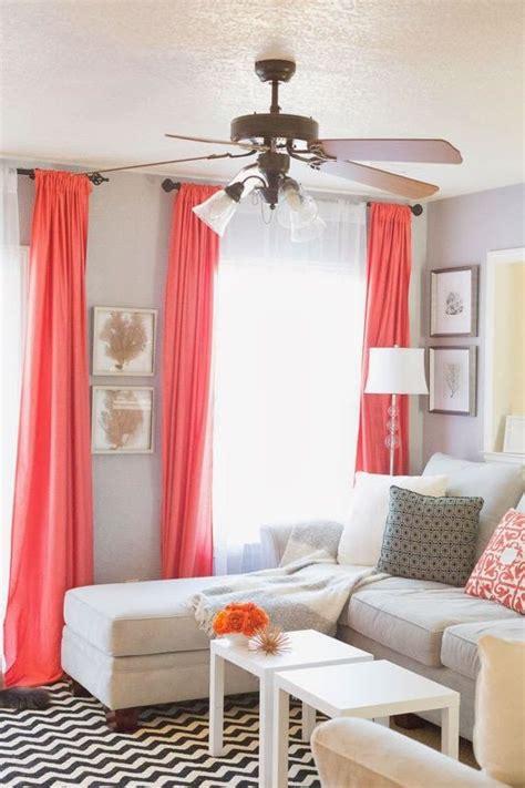 coral colored curtains drapes decora tu hogar con el color coral