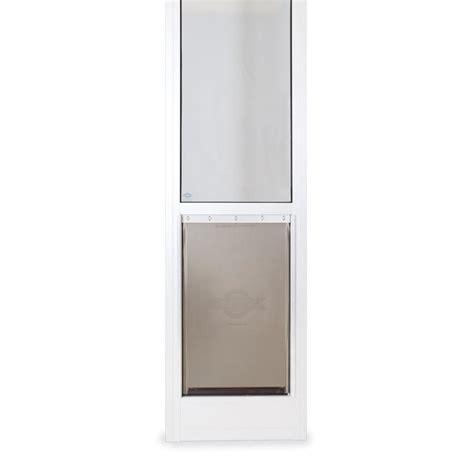 petsafe patio panel large white aluminum sliding pet door