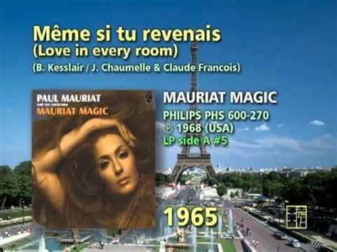 Meme Si Lyrics - paul mauriat meme si tu revenais love in every room from album vol 2 k pop lyrics song