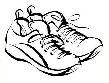 templates zapato viejo running shoes drawing clipart panda free clipart images