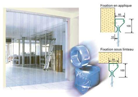 installation chambre froide porte souple rideau a laniere souple