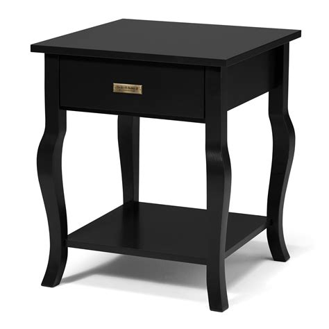 end table with drawer and shelf kate and laurel lillian end table reviews wayfair
