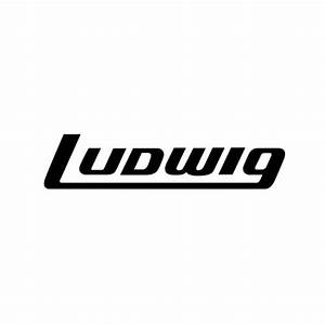 ludwig av8042 bass drum decal black on clear qwille With bass drum lettering