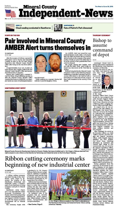 news archive 30th june 2016 june 30 2016 mineral county independent news