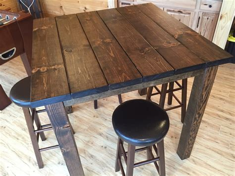 bar high top tables 36 quot square rustic reclaimed wood bar table bar height