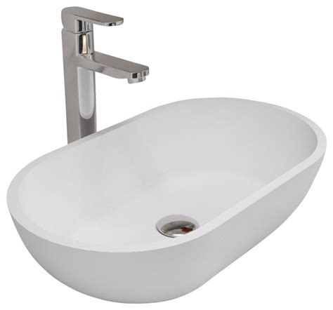 14199 resin sinks bathrooms adm white countertop resin sink contemporary 14199
