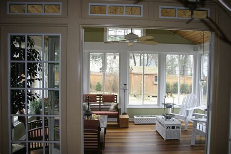 sunroom floor plans 3 season porch family room and kitchen traditional