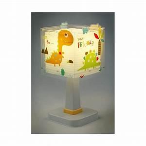 Lampe De Chevet Pour Enfant : lampe chevet enfant dinos dalber luminaire discount ~ Melissatoandfro.com Idées de Décoration