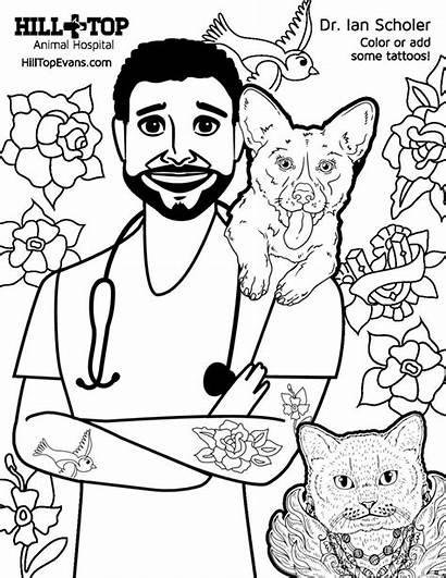 Coloring Hill Dr Hospital Animal Sheet Scholer