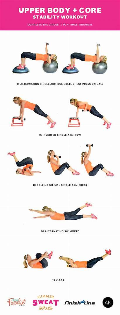 Core Exercises Upper Workout Stability Strength Workouts