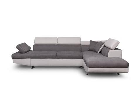 canapé d angle gris pas cher canapé d 39 angle droit convertible avec coffre blanc gris