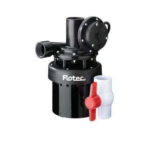 flotec 1 4 hp utility sink pump fpus1860a the home depot