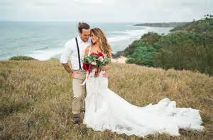 card from to groom on wedding day audrina patridge corey bohan 39 s boho chic kauai wedding