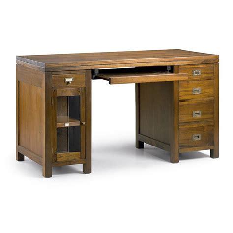 bureau bois exotique bureau au style colonial en acajou massif tendance exotique