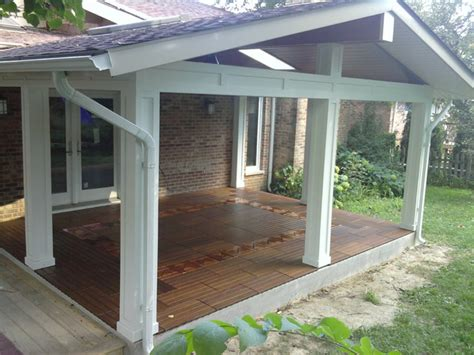 patio roof cover traditional porch chicago by