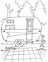 Coloring Printable Trailer Travel Camping Rv Adult Embroidery Camper Instant Patterns Campers Colouring Arrow Theme Happy Sketch Clip Templates Trailers sketch template
