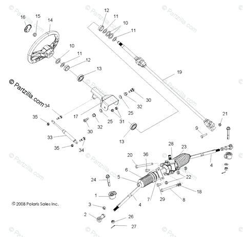 Polaris Side Oem Parts Diagram For Steering