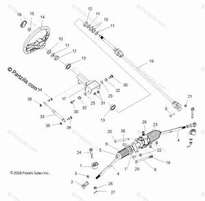 Polaris Side By Side 2009 Oem Parts Diagram For Steering