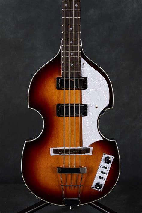 Vintage Violin Reiussed Bass Guitar - Antique Sunburst ...