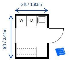Room Planner App How To Change Dimensions by Mid Size 6 X 8ft 1 83 X 2 44m Laundry Room Sized For