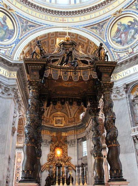 Baldacchino Di San Pietro Bernini by Gian Lorenzo Bernini Baldacchino Di San Pietro Roma Dal