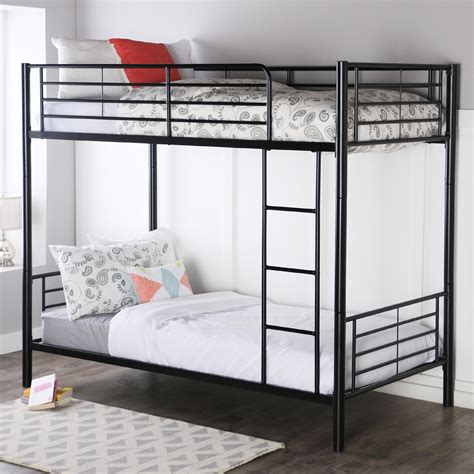 bunk bed amazon com walker edison metal bunk bed