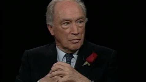 Pierre Trudeau by Remembering Pierre Trudeau Charlie Rose