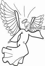 Angel Coloring Pages Printable Preschool sketch template
