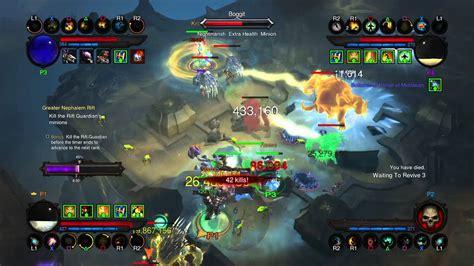 Diablo Iii Reaper Of Souls  Couch Coop 4 Players Ps4