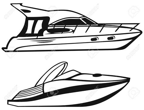 Boat Clipart Black And White Free by Yacht Clipart Black And White Pencil And In Color Yacht