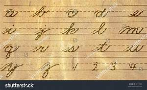 old fashioned cursive writing guide of letters and numbers With old fashioned letter writing