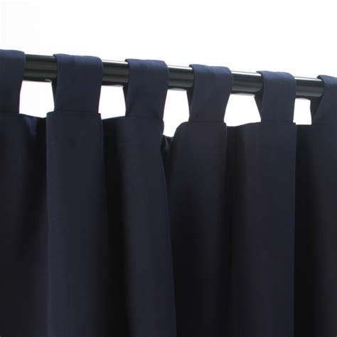 navy tabbed sunbrella outdoor curtains dfohome