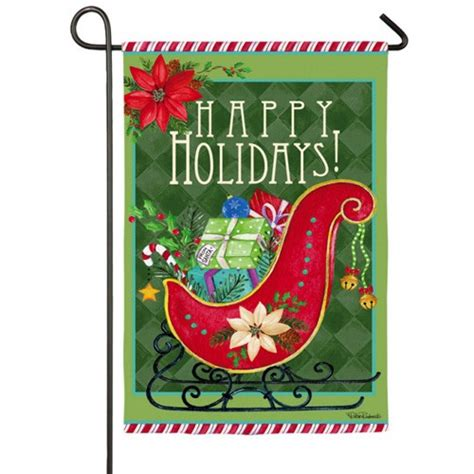 seasonal garden flags happy sled garden flag winter garden flags