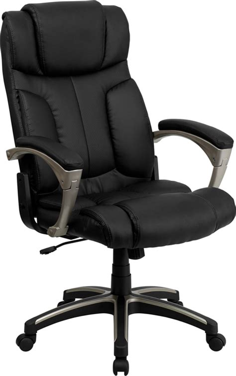 new folding back black leather home office desk chairs w