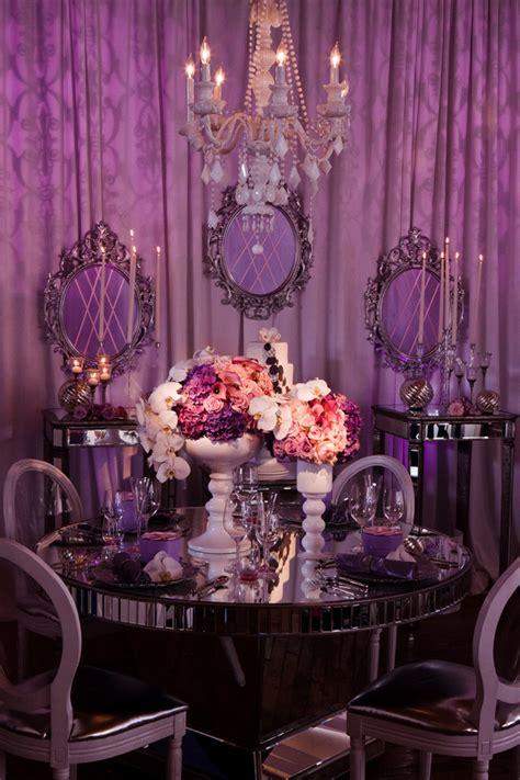 Purple Wedding Table Decor  Architecture & Interior Design