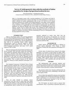 (PDF) Survey of Anthropometric Data Collection Methods of ...