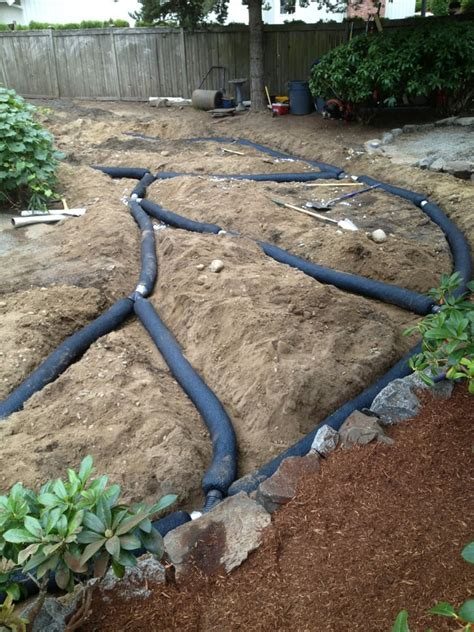persnickety landscaping french drain install yelp