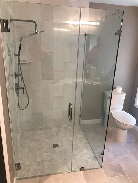 custom shower doors  installed century glass