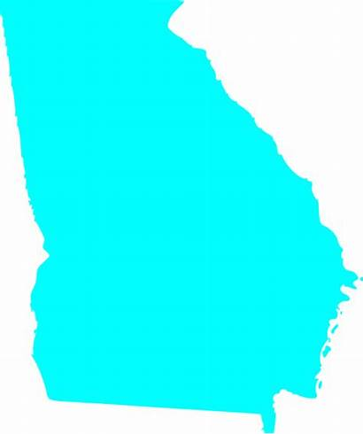 Georgia State Outline Map Solid Clip Clipart
