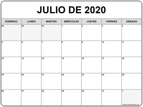 calendario 2020 da stare gratis julio de 2020 calendario gratis calendario julio