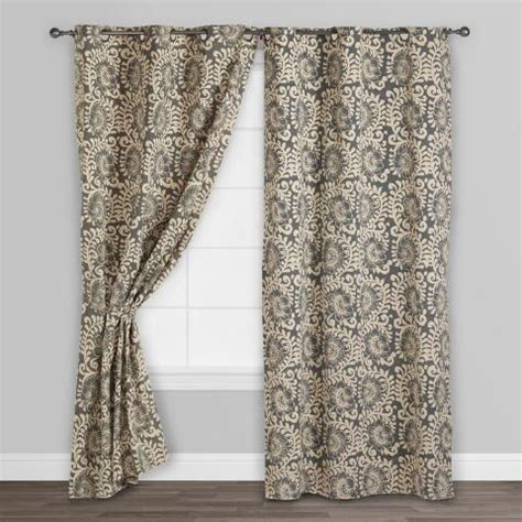 world market curtains gray hibiscus jaipur grommet top curtains set of 2