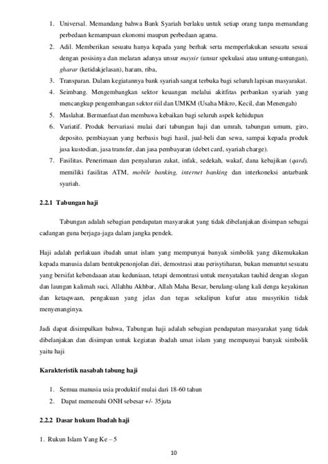 Akuntansi syariah produk haji bank syariah (muamalat)